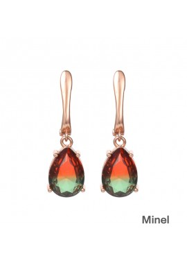 Classic Drop Pear-Shaped Tourmaline Earrings 1.3*0.9CM
