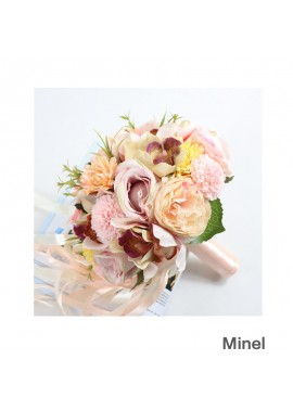 Bride And Bridesmaids Holding Flowers 25CM In Diameter And 23CM In Height