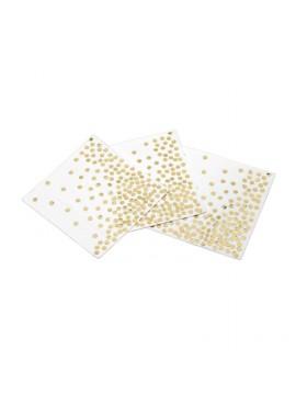5 Sets Of 250PCS Disposable Polka Dot Paper Towel Party Supplies 33*33CM