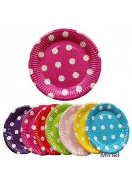 20pcs 7 Inch Party Disposable Barbecue Dinner Plate