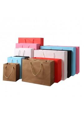 10PCS Paper Bags Environmental Protection Paper Bags Clothing Paper Bags 10*6*12CM