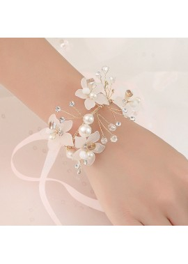 Beautiful Bride Wrist Flowers Wedding Bridal Wrist Flower Corsage Hand Flower Decor for Prom Party Wedding Homecoming