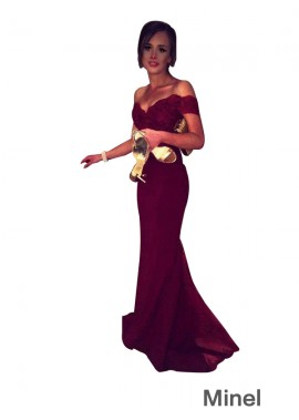 Minel Sexy Discount Long Prom Evening Dress