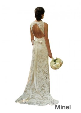 Minel 2020 Beach Lace Wedding Dresses