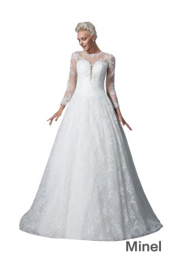 Minel 2021 Lace Ball Gowns