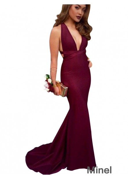 Minel Sexy Mermaid Long Prom Evening Dress