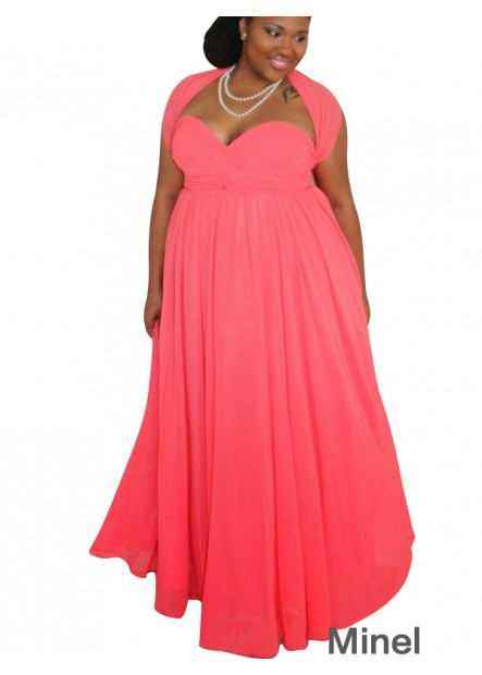 Minel Plus Size Prom Evening Dress