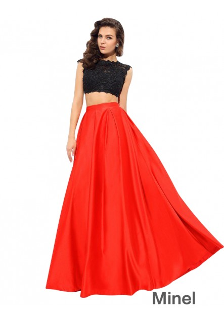 Minel Sexy Two Piece Long Prom Evening Dress