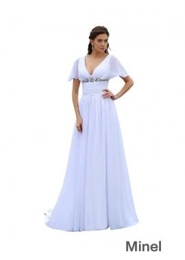 Minel 2020 Beach Plus Size Wedding Dresses