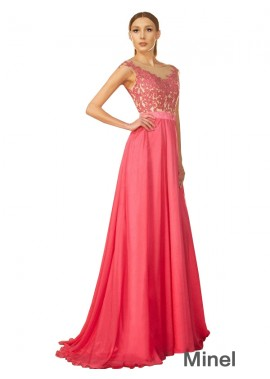 Minel Long Prom Evening Dress