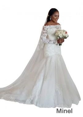 Minel 2020 Plus Size Wedding Dress