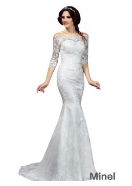 Minel 2021 Lace Wedding Dress