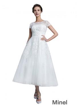 Minel 2021 Short Wedding Dress