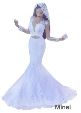 Minel 2021 Beach Lace Wedding Dresses