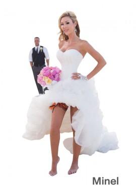 Minel 2021 Beach Short Wedding Dresses