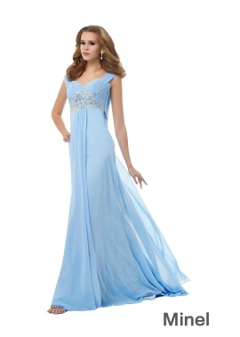 Minel Long Prom Evening Dress