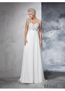 Minel 2021 Beach Wedding Dresses