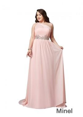Minel Sexy Plus Size Prom Evening Evening Dress