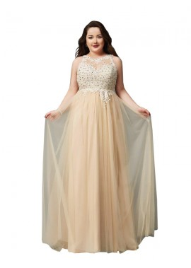 Minel Sexy Plus Size Prom Evening Evening Dress