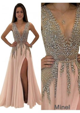 Minel Long Prom Gown Evening Dress