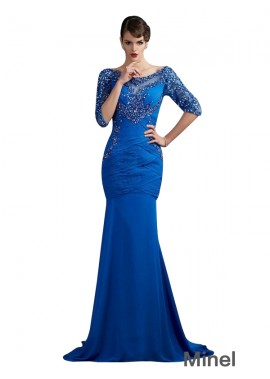 Minel Mermaid Mother Of The Bride Evening Dress