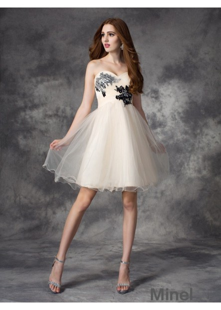 Minel Short Homecoming Prom Evening Dress