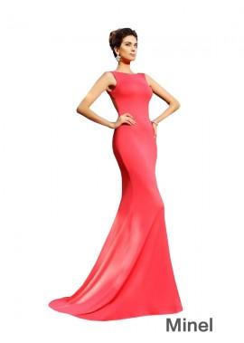 Minel Sexy Mermaid Long Prom Evening Dress