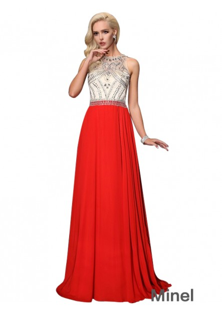 Minel Sexy Long Prom Evening Dress