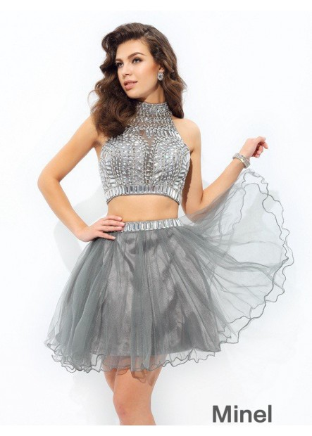 Minel Sexy 2 Piece Short Homecoming Prom Evening Dress