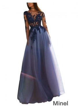 Minel Sparkly Long Prom Evening Dress