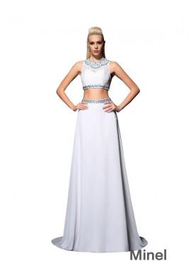 Minel Two Piece Long Prom Dress