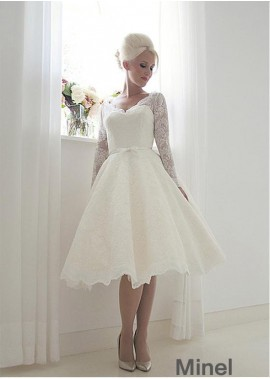 Minel Short Lace Wedding Dress