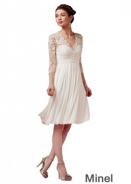 Minel Beach Short Wedding Dresses