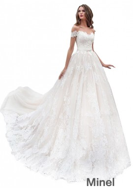 Minel Cheap Wedding Gown