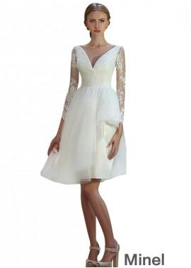 Minel Short Wedding Dress