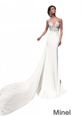 Minel Casual Bridal Beach Wedding Dresses