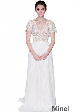 Minel Lace Wedding Dress