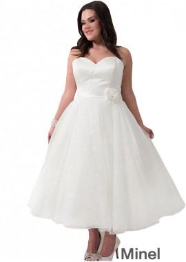 Minel Short Plus Size Wedding Dress