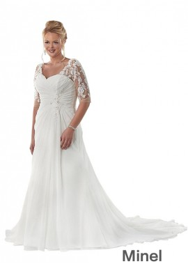 Minel Beach Plus Size Wedding Dresses